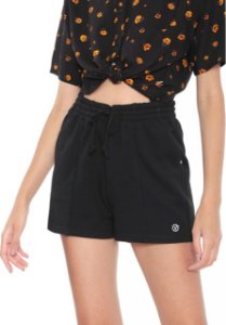 SHORTS VANS STRAIGHTENED OUT PRETO