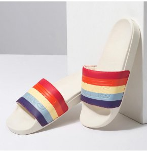CHINELO VANS SLIDE-ON RAD RAINBOW