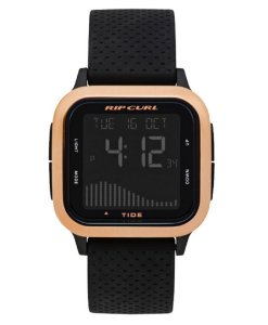 RELÓGIO RIP CURL NEXT TIDE PRETO ROSE GOLD