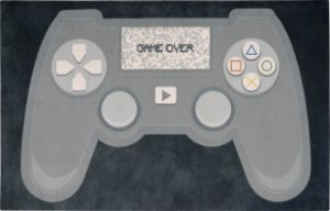 Tapete Infantil 0,80 X 1,25 Gamer Controle