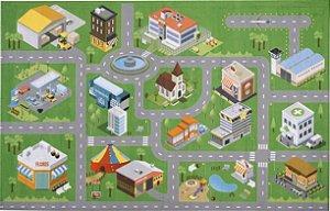 Tapete Infantil 0,80 X 1,25 Cidade