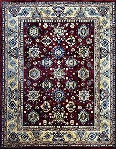 Tapete Kasakh 1,52 X 1,91 1349B/Claret Red/Beige
