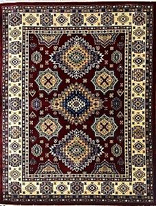 Tapete Kasakh 1354B Claret Red/Beige
