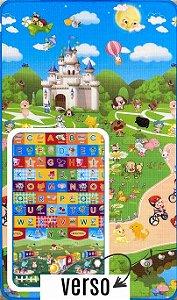 Tapete Recreio Play 0,90 X 1,50 ABC - frente e verso