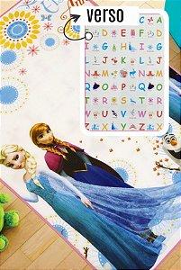 Tapete Recreio Disney 1,20 X 1,80 Frozen - frente e verso