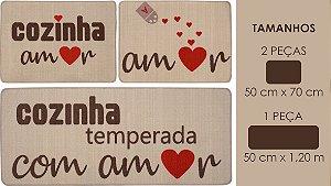 Jogo Cozinha Gourmet Sul 3 PçS Amor