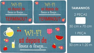 Jogo Cozinha Gourmet Norte 3 PçS Wifi