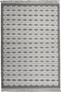 Tapete Nordic 1,50 X 2,00 Silver/Grey - Kilim Frente/ Verso