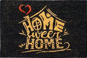Capacho Apaeb Fibra Coco Pintado 0,40 X 0,60 Sweet Home Preto