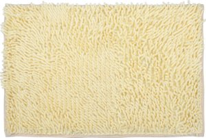 Tapete/Ban Bell Valley Chenille Shaggy 0,40 X 0,60 Amarelo
