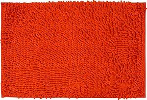 Tapete/Ban Bell Valley Chenille Shaggy 0,40 X 0,60 Vermelho