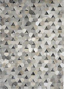 Tapete Miss Triangulo 2,50 X 3,50 Seta Petroleo/Gris Grey