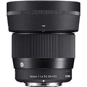 Lente Sigma 56mm F/1.4 DC DN Contemporary para Sony E-mount APS-C