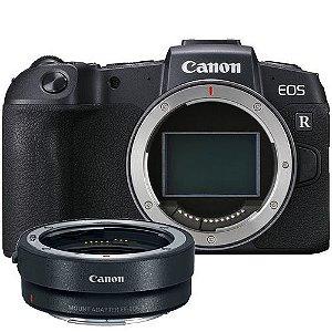 Camera Canon EOS RP com Adaptador EOS R NFe