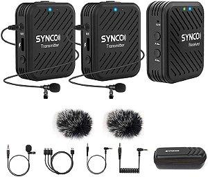 Microfone de Lapela Synco WAir-G1-A2 Ultracompact 2-Pessoas (2.4 GHz)