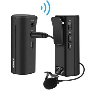 Microfone Lapela Mamen WMIC-5G Wireless P2 NFe