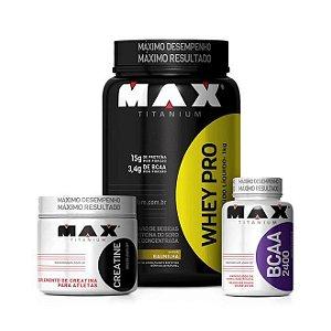 Combo Pro - Max Titanium (Whey Pro + BCAA + Creatina)