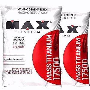 2x Combo Hipercalórico - Mass Titanium 17500 3kg - Max Titanium CHOCOLATE