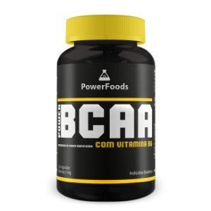 PowerBCAA com Vitamina B6 (120 Capsulas) Power Foods