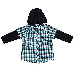 Camisa Xadrez Capuz