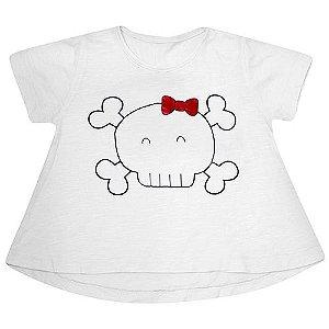 Camiseta Caveira Lacinho