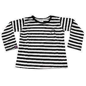 Camiseta Manga Longa Caveira Bordada