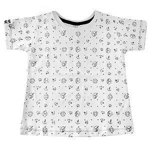 Camiseta Estampada Âncora Cap