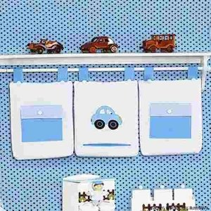 Porta Fraldas Infantil Toys 3 Pçs Azul Menino