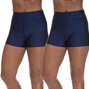 Kit 2 Shorts Cirre 3D Poliamida Azul Marinho