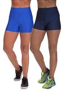 Kit 2 Shorts Cirre 3D Poliamida Azul Royal E Azul Marinho