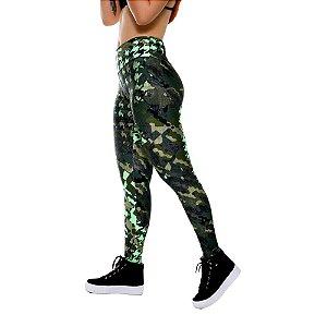 Calça Legging Fitness Feminina Camuflada
