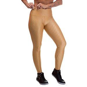Legging Feminina 3D PoliamidaDourado
