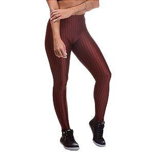 Legging Feminina 3D PoliamidaMarrom