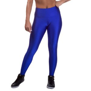 Legging Fitness Feminina 3D Cirre Azul Royal