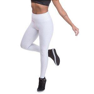 Legging Feminina Texturizada Branca