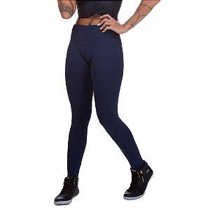 Calça Feminina Legging Miss Blessed Montaria Azul Escuro