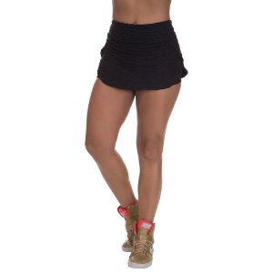 Shorts Saia Brocado Preto