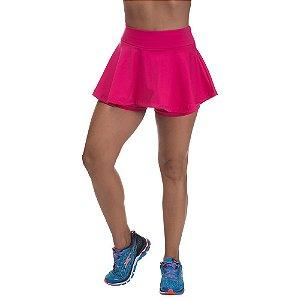 Shorts Saia Colegial Poliamida Rosa