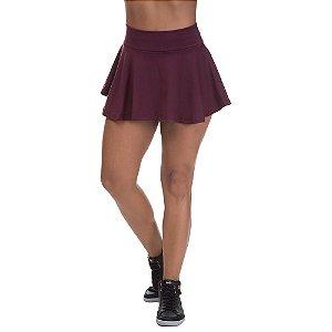 Shorts Saia Colegial Poliamida Marsala