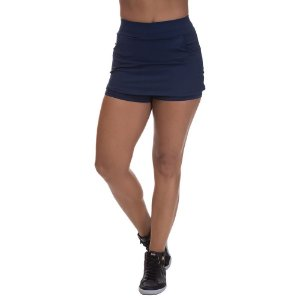 Shorts Saia Poliamida com Bolso Azul Marinho