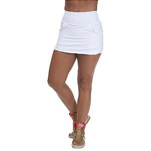 Shorts Saia Poliamida com Bolso Branco