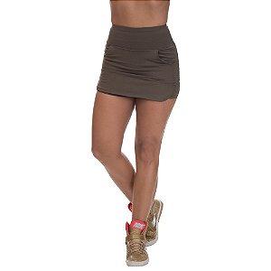 Shorts Saia Poliamida com Bolso Verde