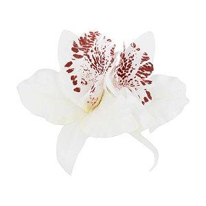 Porta Guardanapo Orquídea Oriental Branca