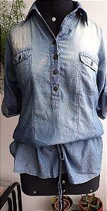 Vestido-blusa Jeans Zara