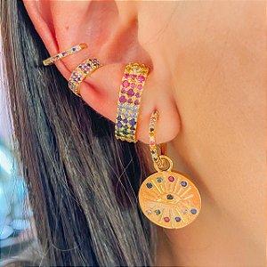 Ear Hook Colorido Ouro