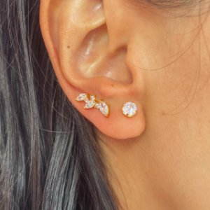 Ear Cuff Mini Navetes Ouro