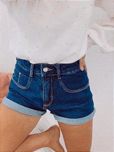 Shorts Mom Escuro