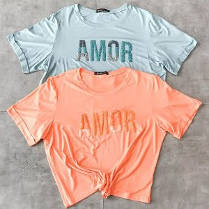 T Shirt Amor Bordada
