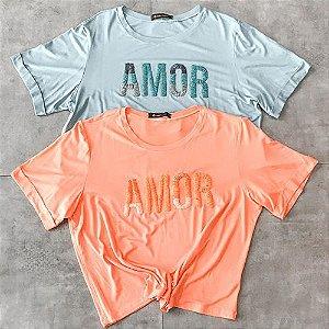 T Shirt Amor Bordada