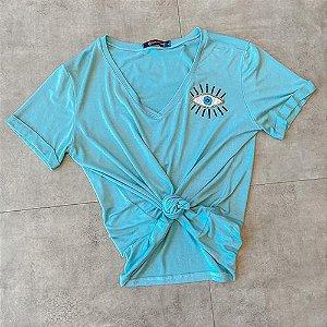 T Shirt Olho Grego Bordada